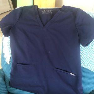 Figs navy scrub top